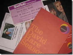 David Hare Season - programme, flyers and tickets
