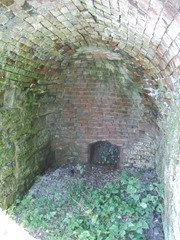 Interior of a lime kiln